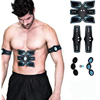 OSITO Estimulador Muscular eléctrico Pad Masajeador Cinturón Músculo Corporal Ejercitador para Brazo y Pierna Máquina de Ejercicios para el hogar