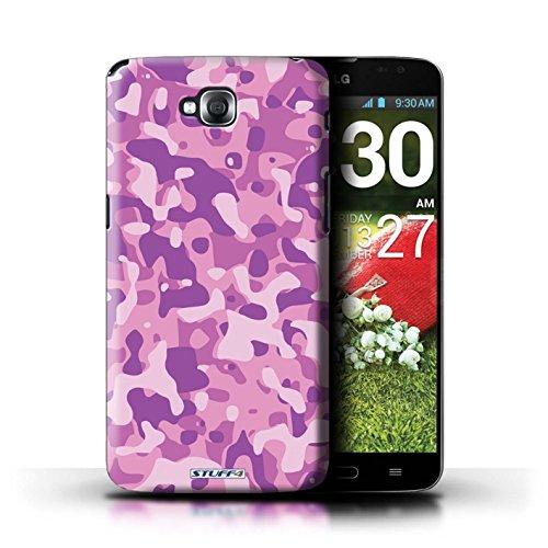 Kobalt® Imprimé Etui / Coque pour LG G Pro Lite/D680 / Blanc 2 conception / Série Armée/Camouflage Rose 3