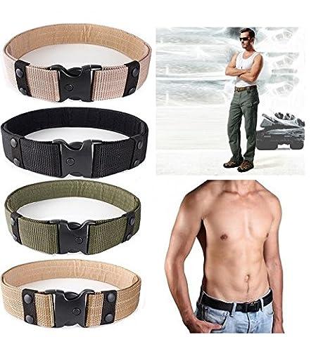 Hensych® Verstellbar Sport Gürtel Combat Rigger Militaria Militär Hochrutschen für Langlebig (Nylon 2 Dienstgürtel)