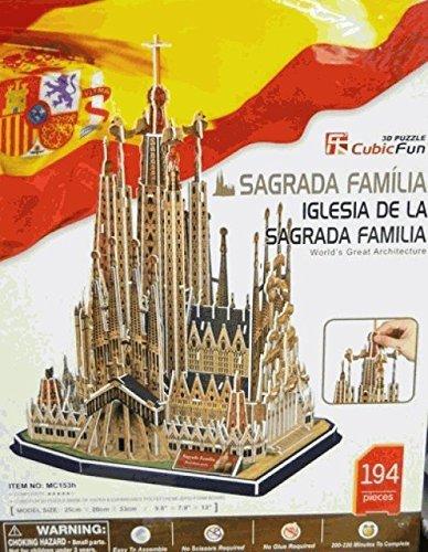 Puzzle 3D 194 pièces : Sagrada Familia, Barcelone