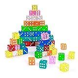 8 Farbspiel Würfel Würfelsets Dice Bunt Set 16 mm Würfel Bunt Set 6-Seitig (40 Stück)