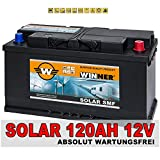 Solarakku 120Ah Solarbatterie Versorgungsbatterie Wohnmobil Batterie Boot zyklenfest 100Ah