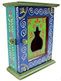 #9: Crafticia Wooden Ethnic Rectangle Key Holder Box Table Stand for Key Chain Traditional Handmade Handicraft Gift Item Home Table Wall Decor Pink City Rajasthani Handicraft Showpiece