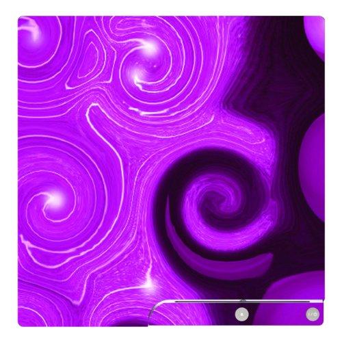 Disagu Design Skin für Sony PS3 Slim + Controller - Motiv Lila Wave (Controller Skin-lila Ps3)