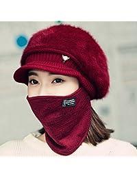 37d4b4247a56 Sciarpe XIAOXIAO Cappello Inverno Caps Ispessimento Tenere Caldo Linguetta  Cappello Maschera Coprire La Faccia Cappello Lavorato