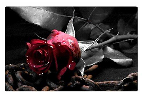 iRocket Fußmatte für den Innenbereich, Gothic Rose, 60 x 40 cm
