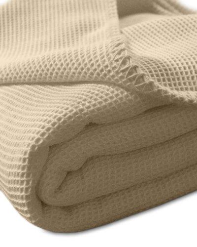 kneer-9152274-la-diva-waffelpique-decke-mit-ziersticheinfassung-220-240-cm-sand