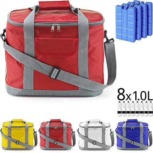 Kühltasche MARBELLA 20 Liter (= 36 Dosen) inkl. 4 Akkus für Picknick, Grillen, Wandern, Ausflüge, Urlaub