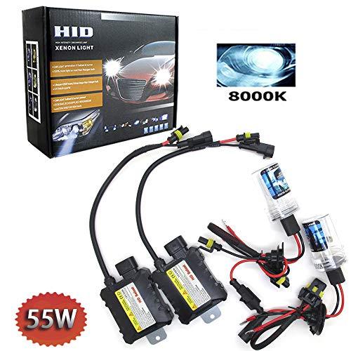 Boomboost HID Xenon-Brenner kit H4 Xenon-Licht Ballasts Entladungslampe Schlank HID Lampen Scheinwerfer Nachrüstsatz Set Schnellstart Ersatzlampen 12V 55W 8000K
