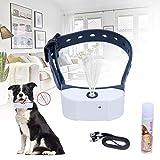 NIBESSER Anti Bell Sprühhalsband, umweltfreundliches Zitronella Sprühstoß, Mikrofon Sensor, wetterfest, für Hunde