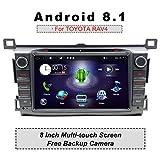 """Autoradio Android 8.1 doppio DIN con sistema di navigazione GPS in-dash per Toyota RAV4 2013,2014,2015, YUNTX 2 DIN RAV4 Radio con schermo touch screen da 8"""" con fotocamera"""