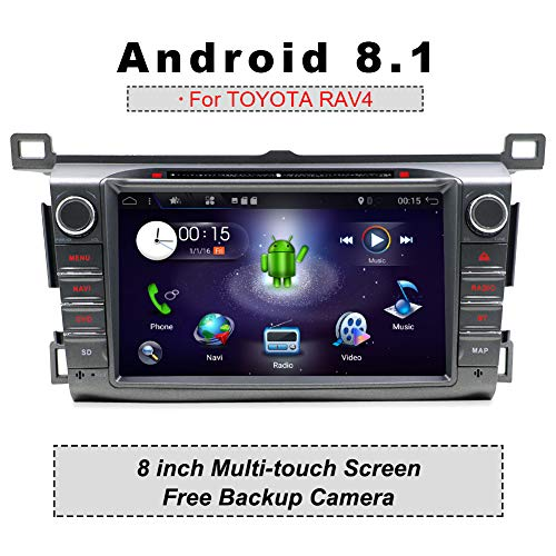 YUNTX Autoradio für TOYOTA RAV4 (2013-2015) | Navigation Can-Bus integr. | 8 Zoll | LCD Touchscreen | 2GB ROM | 32GB RAM | DAB+ Unterstützung | USB | Octa-Core | WLAN | Bluetooth | MirrorLink | RDS - 2014 Autoradio Touchscreen