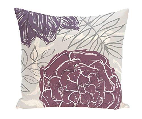 E von Design Dekorative Kissen, lila, violett (Lila Dekorative Bett Kissen)
