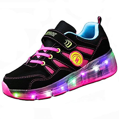 b4eddd791 FLARUT Niños Zapatos Con Rueda Junior Led Zapatillas de Patìn Roller  Sneakers Deportivos con luz(