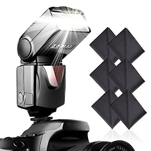 SAMTIAN Blitz Speedlite für Canon Nikon Panasonic Olympus Pentax und andere DSLR-Kameras, Digitalkameras mit Standard-Blitzschuh