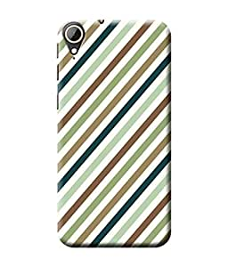 Be Awara Stripe Designer Mobile Phone Case Back Cover For HTC Desire 830