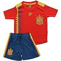 LICECIA DE LA REAL FEDERACION DE FUTBOL ESPAÑOLA Mini kit Replica Primera Equipación para niño Fase Final del Mundial de Rusia 2018 compuesto de camiseta,pantalones (8)