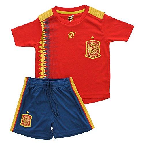 Kit equipación camiseta y pantalón selección española fútbol  - r