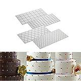 Valink transparente Strukturmatten für die Dekoration von Tortenrändern, 4 Stück, verschiedene Muster