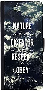 Snoogg Obey Nature Graphic Snap On Hard Back Leather + Pc Flip Cover Samsung ...