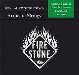 Fire and Stone 665510 Cordes pour Guitare Acoustique Bronze Phosphoreux
