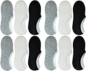 Star Wings Unisex Low Cut Combo Of 6 Loafer Socks (Assorted,Free Size)