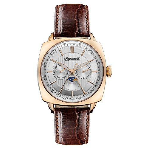 Ingersoll Mens Analogue Classic Quartz Watch with Leather Strap I04103