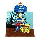 Kapuzenponcho Kinder Handtuch 100% Baumwolle Jungen Mädchen Kapuzenponchos Schwimmen mit Tiermotiv Poncho Towel Strand 0-6 Jahre Rosen-Bogen