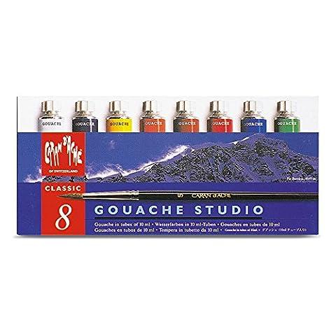 Caran d'Ache : Studio Gouache : Set of 8x10ml Tubes