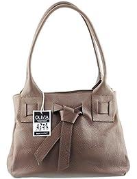 NAPLES - Sac en cuir véritable, sac à main avec nœud.