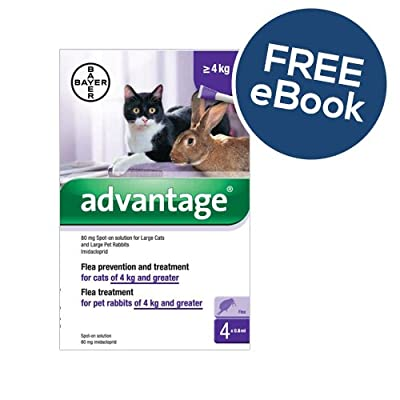 Advantage 80 - Large Cats & Rabbits - INCLUDES FREE EXCLUSIVE PETWELL® FLEA AND TICK E BOOK