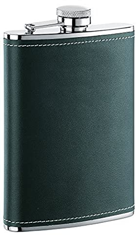 Visol Eclipse Leather Liquor Flask, 6-Ounce, Black by Visol Products