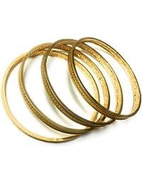 OranGey Fashion - Traditional 1gm Gram Gold Plated Bangles For Women & Girls (Set Of 4)