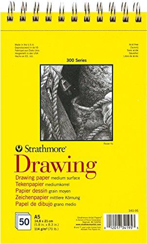 Strathmore DRAWING Serie 300, Zeichenblock DIN A5, 114 g/m², 50 Blatt