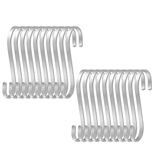 Robe Hooks 15 Pcs Pratical Heavy-duty S Shaped Iron Metal Hook Display Hooks Hanging Hooks Hanger For Garden Home Supermarket Clients First Bathroom Hardware