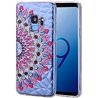 Sycode Galaxy S9 TPU Handyhülle,Crystal Clear Silikon Handyhülle für Samsung S9,Creativ Diamant Muter Rosa Blume... preisvergleich bei billige-tabletten.eu
