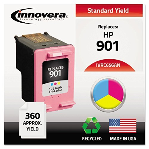 Innovera Hp Toner (C656AN Compatible, Remanufactured, CC656AN (901) Ink, 360 Page-Yield, Tri-Color)