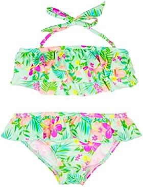 [Sponsorizzato]Changhants Belle Ragazze Swimwear Del bambino due Pezzi verde del vestito di stile Frills terreno con piante bambini...