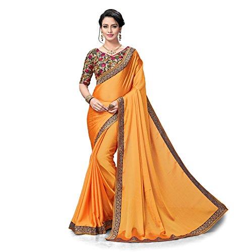 Rekha Maniyar Golden Two Tone Silk Chiffon Weaved Zari Border Saree With...