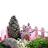 Bluelover Mini Castello Micro Paesaggio Decorazioni Giardino Decor Fai Da Te In Resina-Luce Caffè