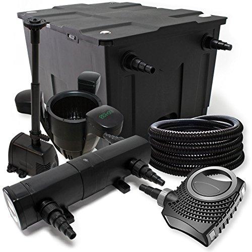 Filtro set in bio filtro laghetto 12000l uvc con 72 w for Pompa x laghetto con filtro