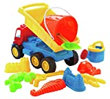 Sand Truck Bucket and Spade Set Including 11 Pieces. Tipper Lorry, Bucket, Spade and Lots of Funky Molds