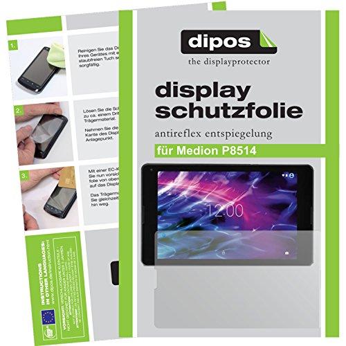 Medion P8514 Schutzfolie - 2x dipos Displayschutzfolie Folie matt