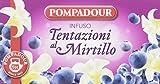 Pompadour - Infusione per Bevande Calde, Tentazioni al Mirtillo 20 filtri - [confezione da 3]
