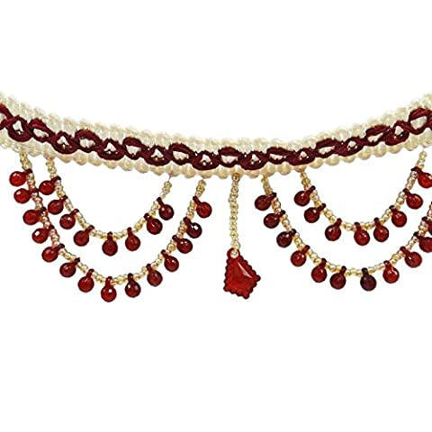 Rouge perlé rideau Fringe Tapisserie dentelle fournitures Ribbon Crafting Par The Yard