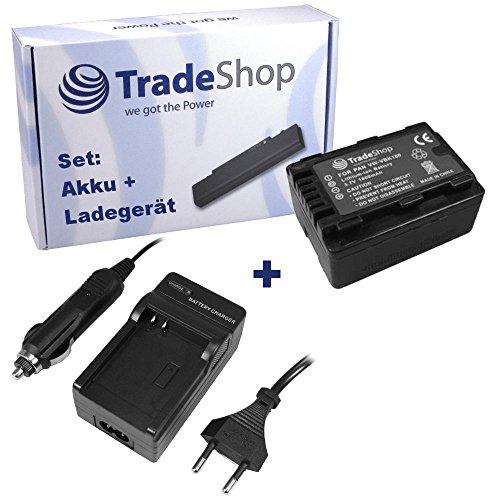 ANGEBOT IM SET: Hochleistungs Kamera Li-Ion Akku + Akku Ladegerät mit KFZ Adapter ersetzt VW-VBK180 VW-VBK180EK VW-VBK-180 VW-VBK-180EK für Panasonic HDC SD40 SD66 SD80 SD99 HDC-SDX1 HS60 HS80 TM60