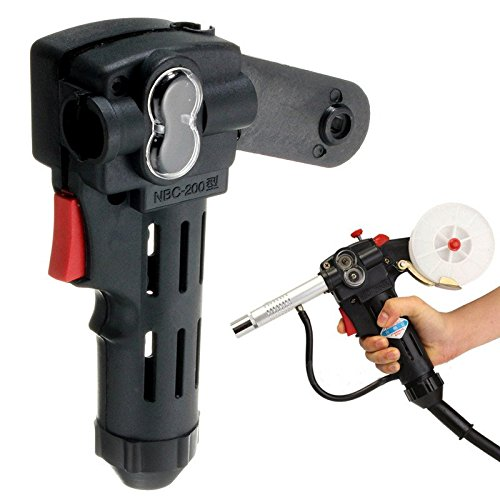 KD BARGAINS NBC200A Wire Drawing Welding Torch Black Plastic Spool Gun