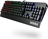 REIDEA KM06 Mechanical Gaming Keyboard with Red Switch and Full RGB Backlit Keys, UK Layout