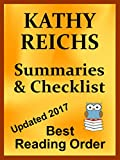 KATHY REICHS TEMPERANCE BRENNAN, STANDALONE NOVELS AND TORY BRENNAN BOOK LIST: READING LIST WITH SUMMARIES AND CHECKLIST -  Updated 2017 (Best Reading Order 33) (English Edition)
