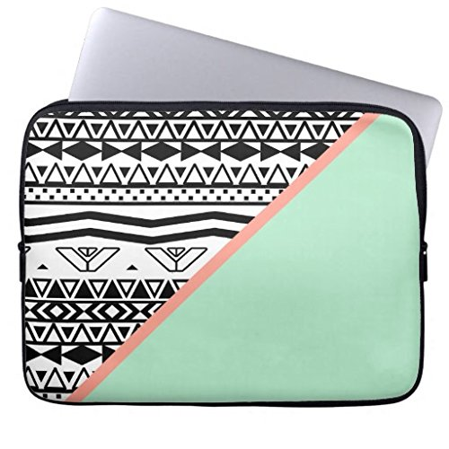 Aztec Computer Sleeve 11.6 12 Inch Black and White Geometric Laptop Sleeve 12¡± Netbook Envelope Carrying Protector Cover Sleeve for Apple MacBook Acer Samsung Ultrabook Asus Fujitsu (Acer-laptop-tasche Aztec)
